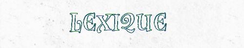 Lexique 2018
